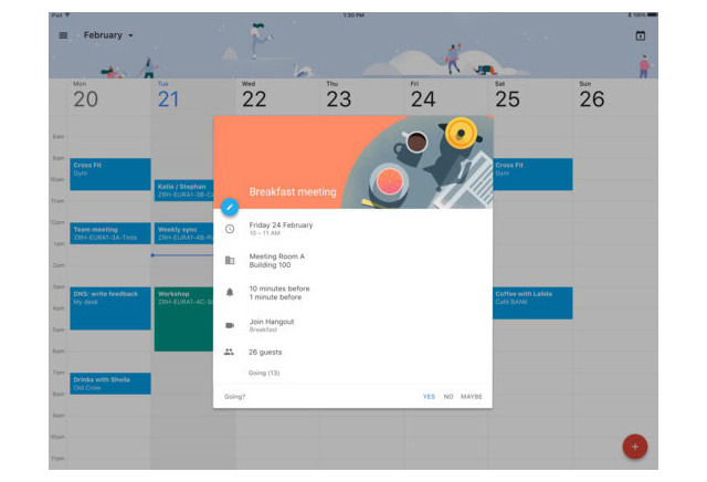 Google Calendar Gains Native Apple iPad Interface With