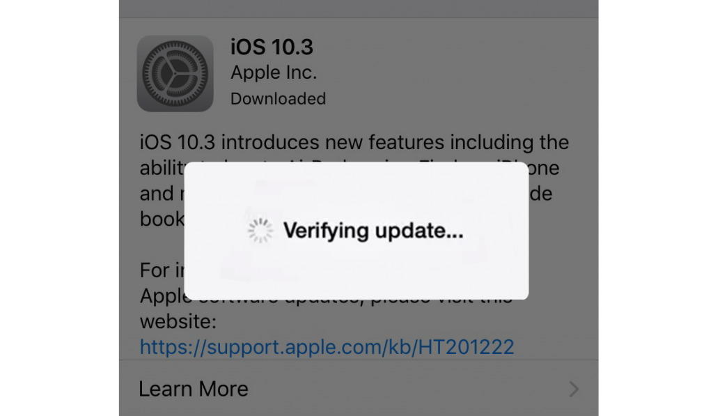 """How to Fix iDevice Stuck on """"Verifying Update"""" During iOS 10.3 Update?"""