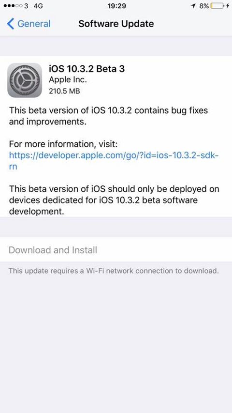 Apple Seeds Beta 3 of iOS 10.3.2 to Developers and Public Beta Testers