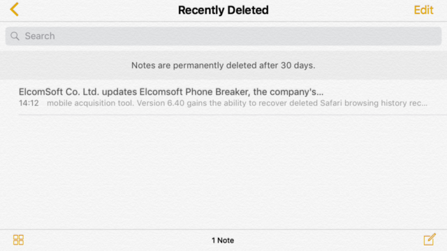 Deleted iPhone Notes Remain Stored In iCloud Even After 30 Days