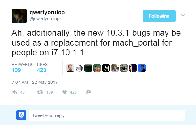 iOS 10.3.1 Bugs May Be Used for Mach_Portal Users