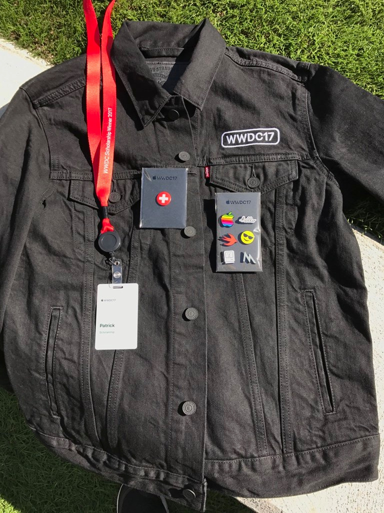 Apple Gifts WWDC '17 Attendees Custom Levi's Jackets & Pins