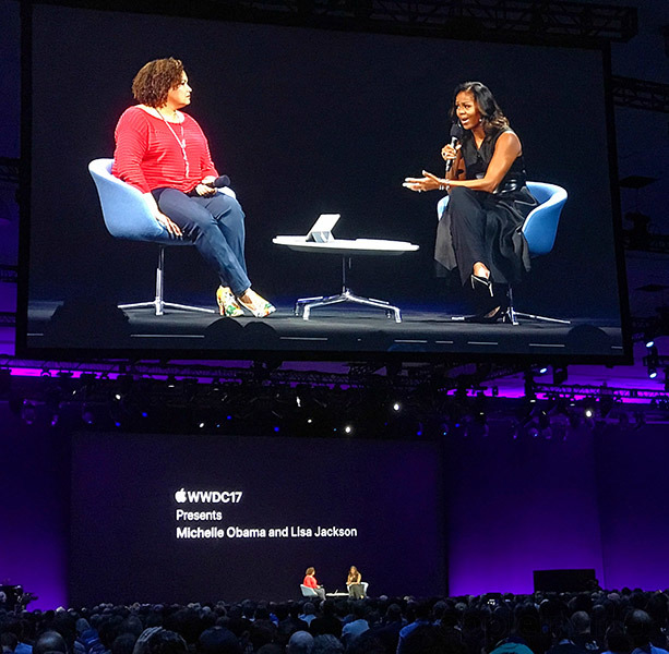 Michelle Obama Talks Entrepreneurship, Social Issues, More at WWDC