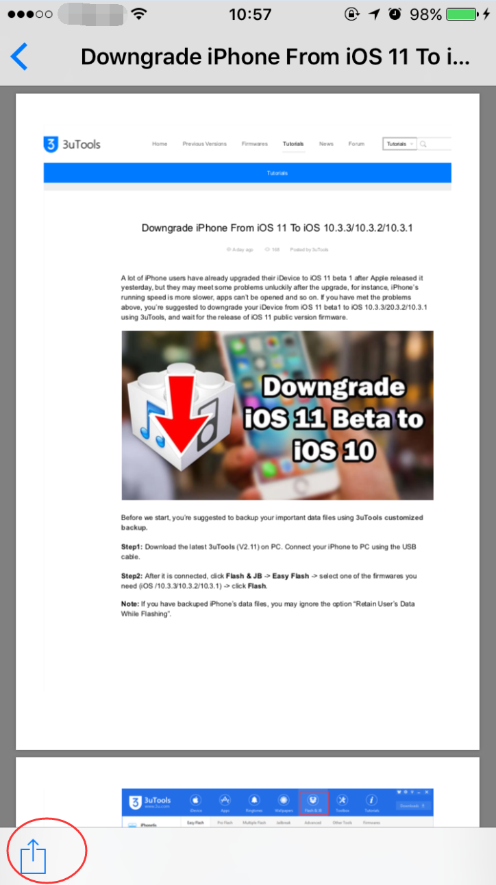 How to Convert Web Pages to PDF on iPhone? - 3uTools