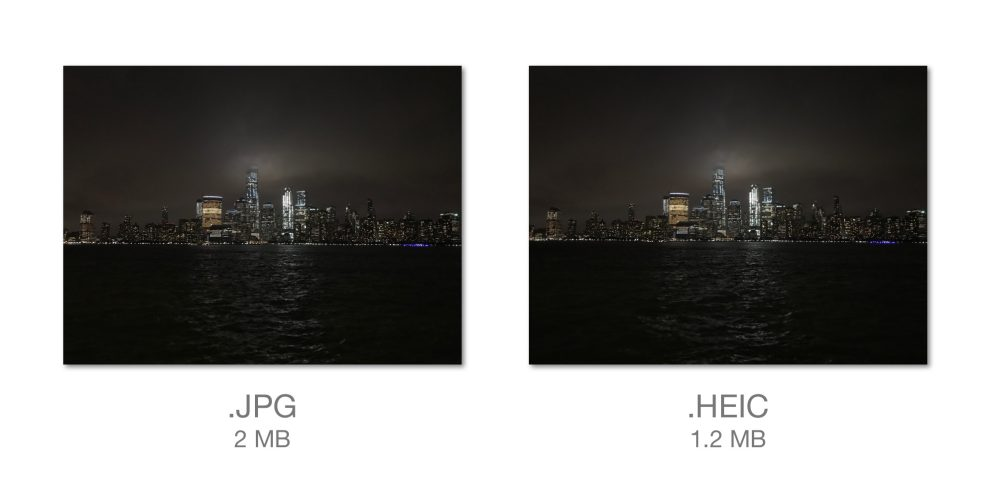 iOS 11's New HEIF/HEVC Camera Formats Will Save You 50% on Storage