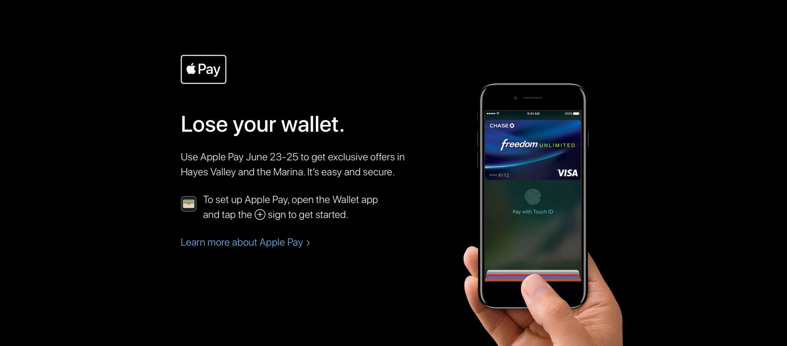 Apple Holding 'Lose Your Wallet' Shopping Event Promoting Apple Pay