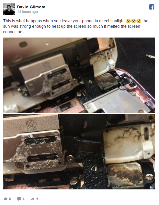 iPhone Melts In Sun, Says Customer