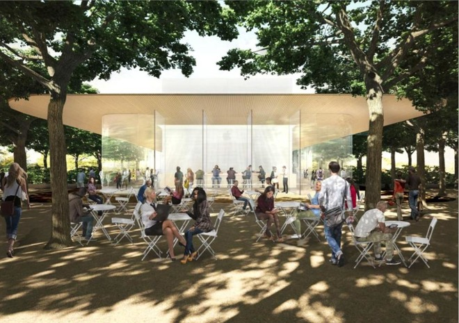 Apple Park Visitor Center Getting Ready for the Public from Apple Hiring