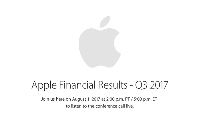 Apple to Report Q3 2017 Earnings On Aug. 1