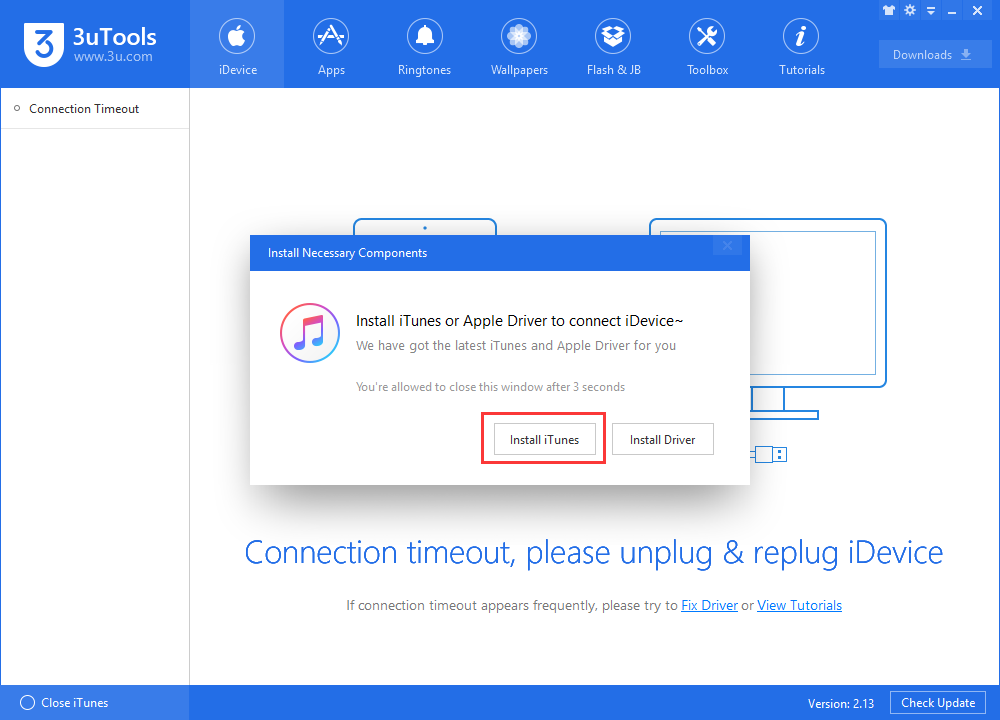 How to Install iTunes on PC Using 3uTools?