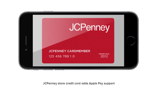 JCPenney Credit Card Adds Apple Pay Support