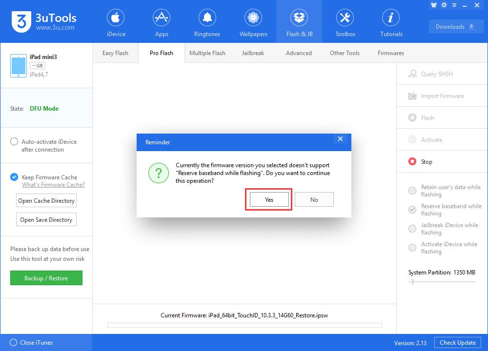 How to Upgrade iDevice Via 3uTools Pro Flash?