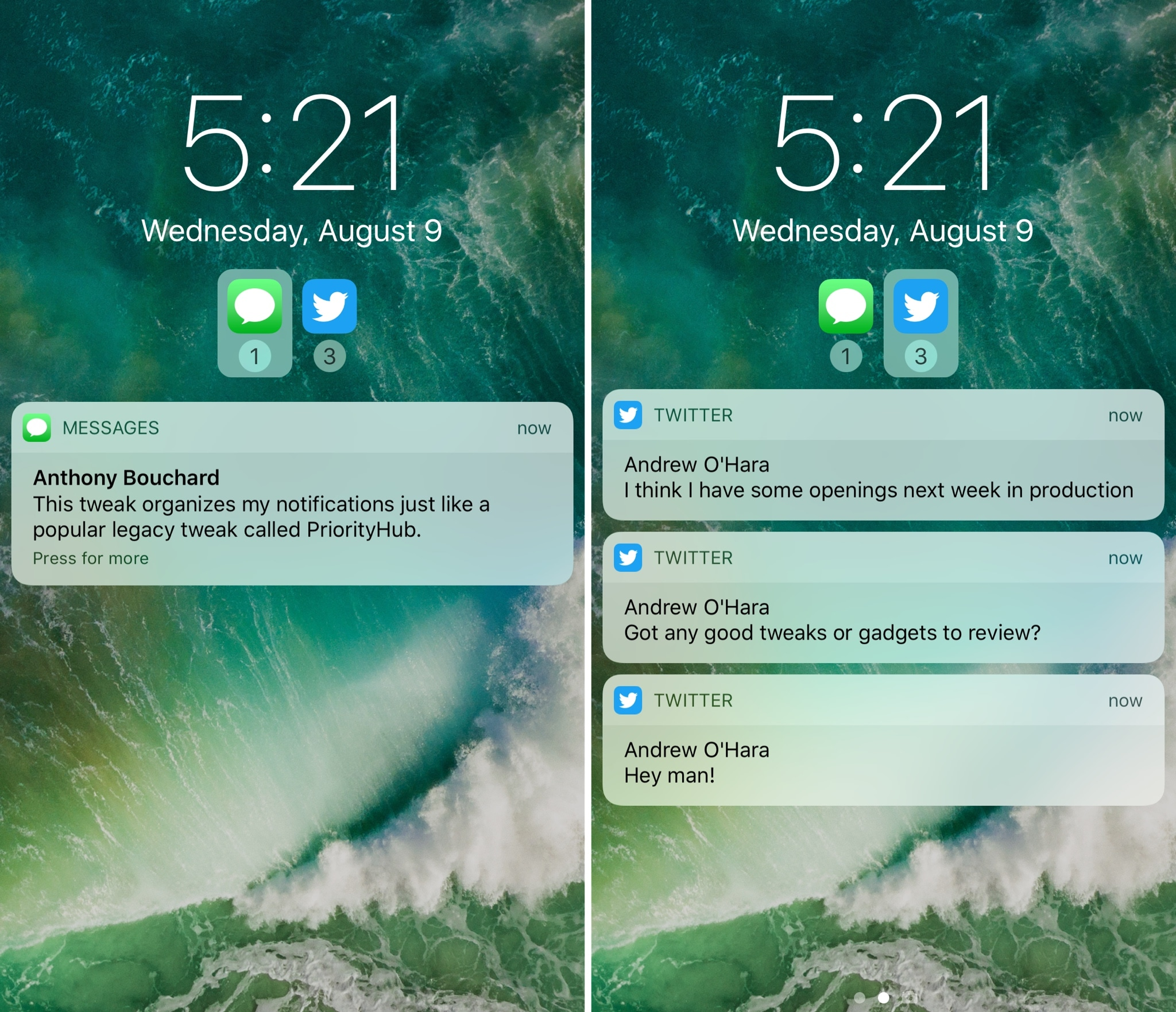 Atmos Groups iDevice's Notifications In A Perfect Manner