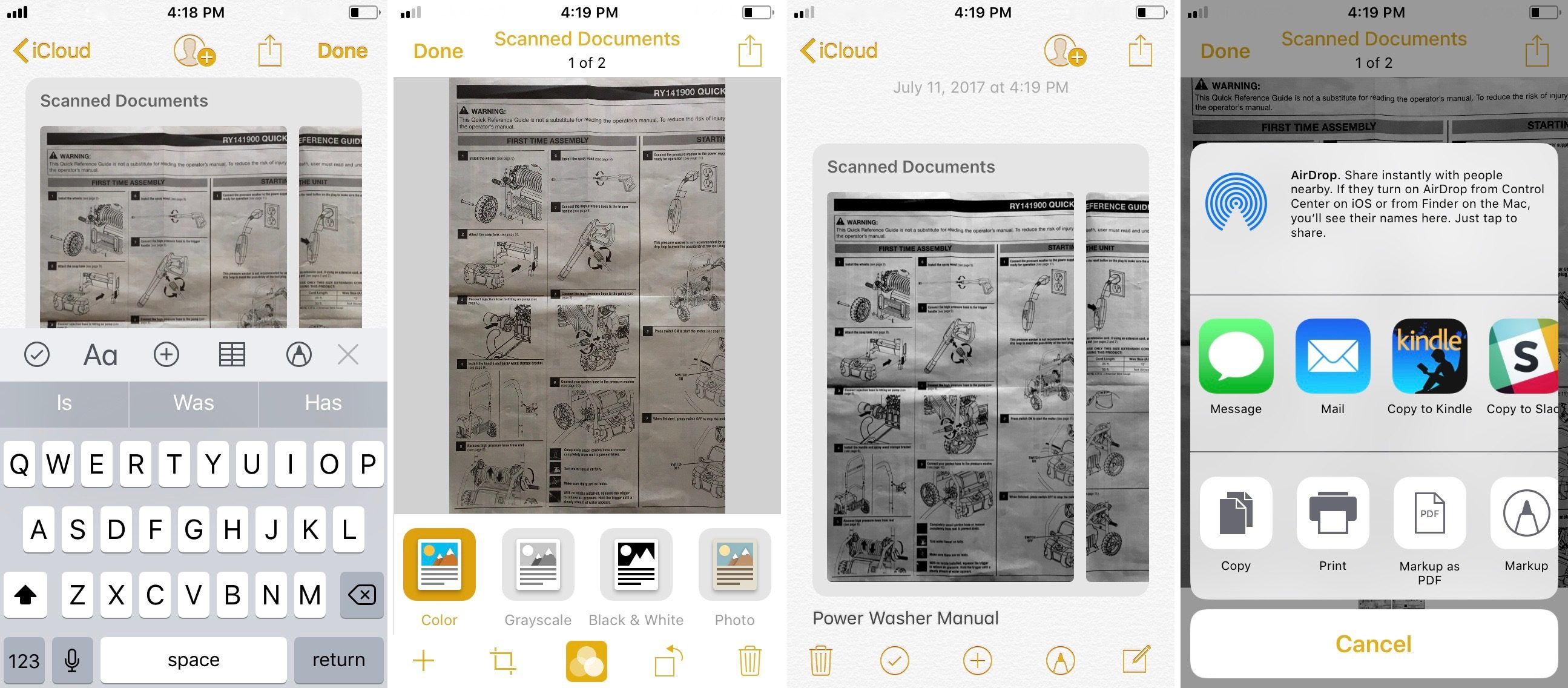 How to Use Apple's Document Scanner in iOS 11?
