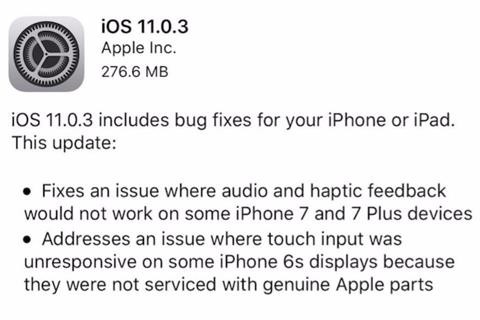 Apple iOS 11.0.3 Starts Causing Problems
