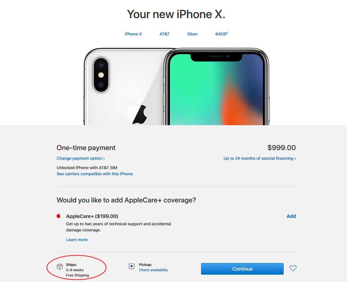 iPhone X Sold Out in 30 Minutes!