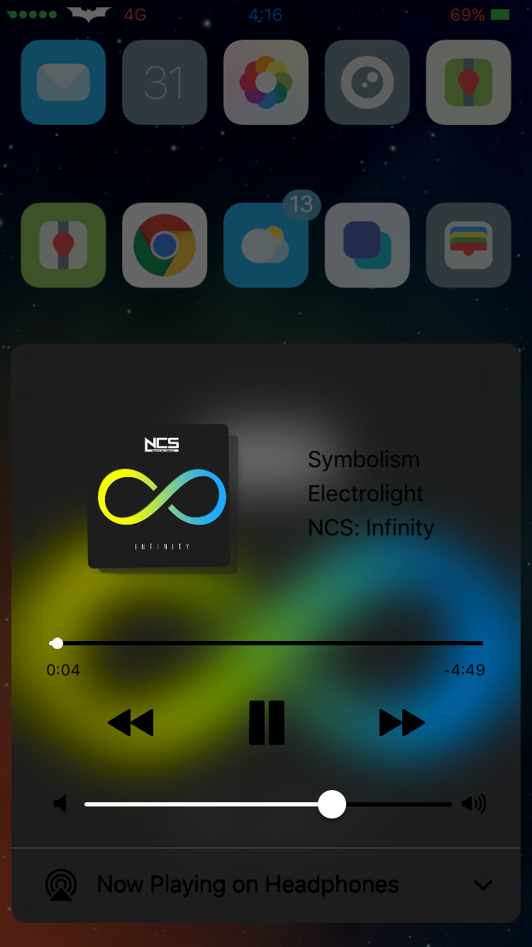 Promien - Make the Control Center Background A Blur of the Album Art