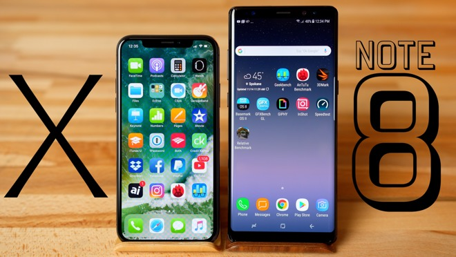 Apple iPhone X Versus Samsung Galaxy Note 8 Benchmark Comparison