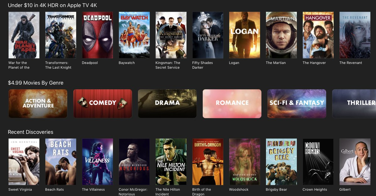 iTunes Kicks Off Black Friday $5 movie Sale Across Nearly Every Genre
