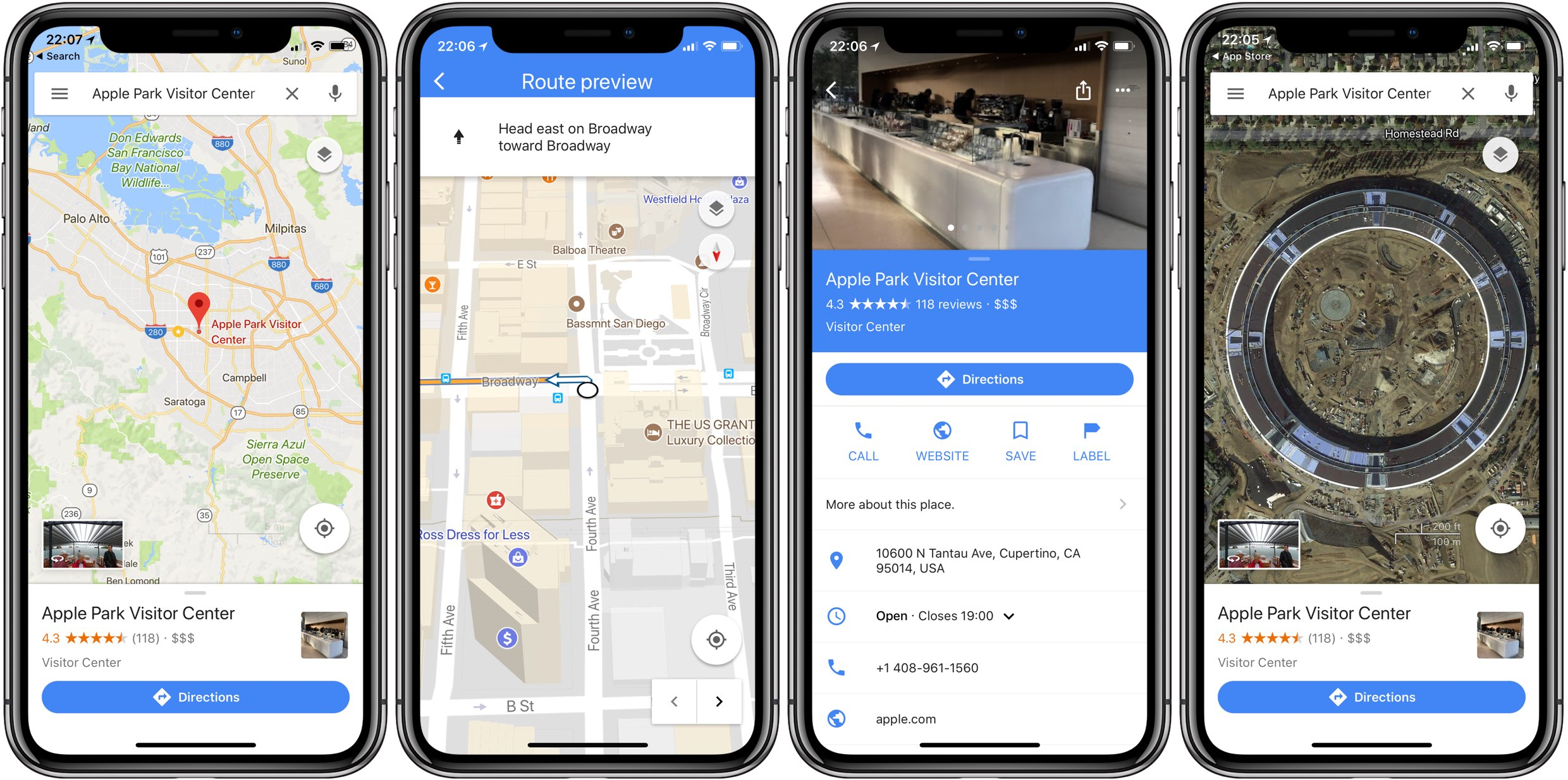 Google Maps App Supports iPhone X With Edge-to-Edge OLED Display