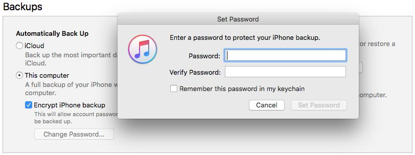 iTunes Asks for a Password to Unlock iPhone Backup? Can't Backup & Restore?