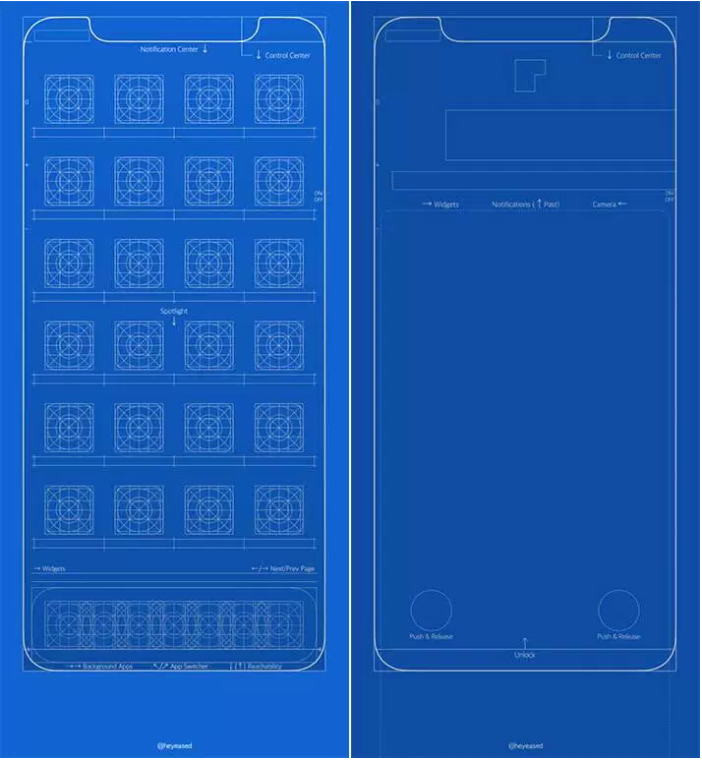 Iphone X Blueprint