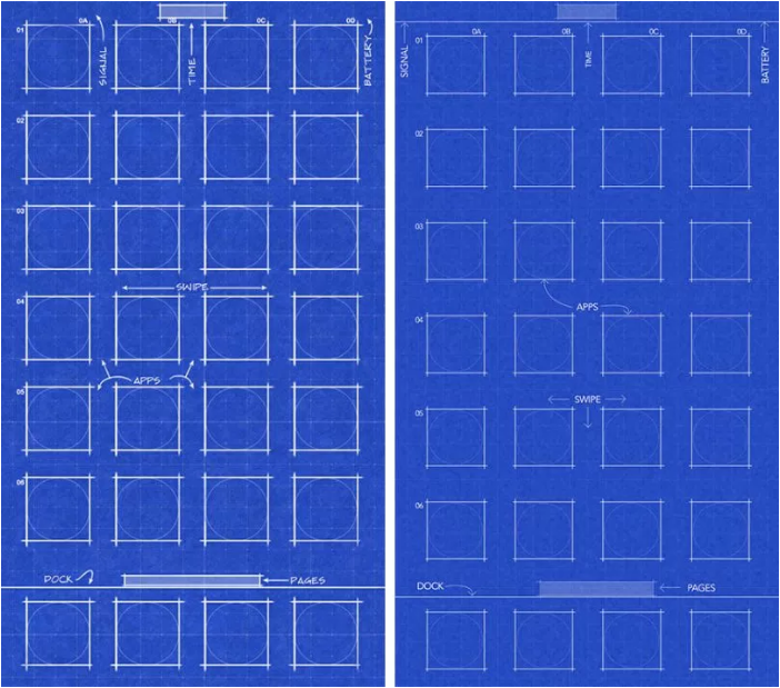 【Free Download】New Designed Blueprint Wallpaper for iPhone X and iPhone 8