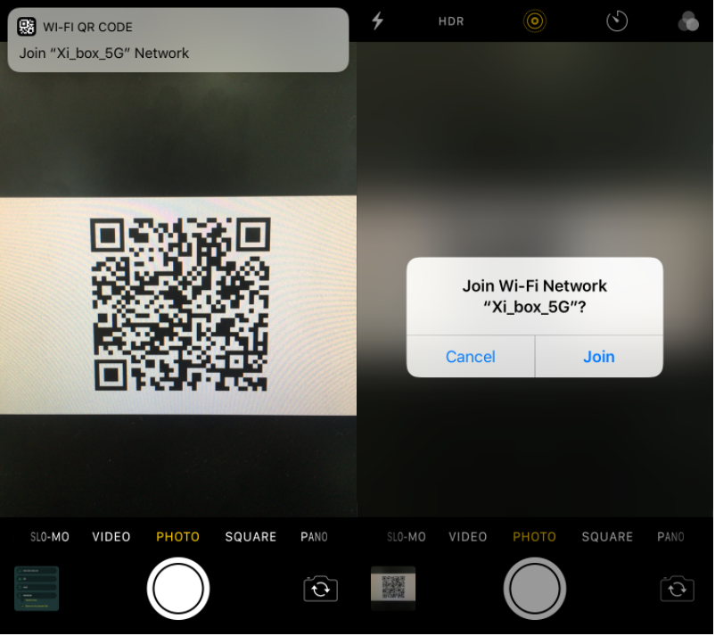 Scan QR Code to Connect Wi-Fi Network
