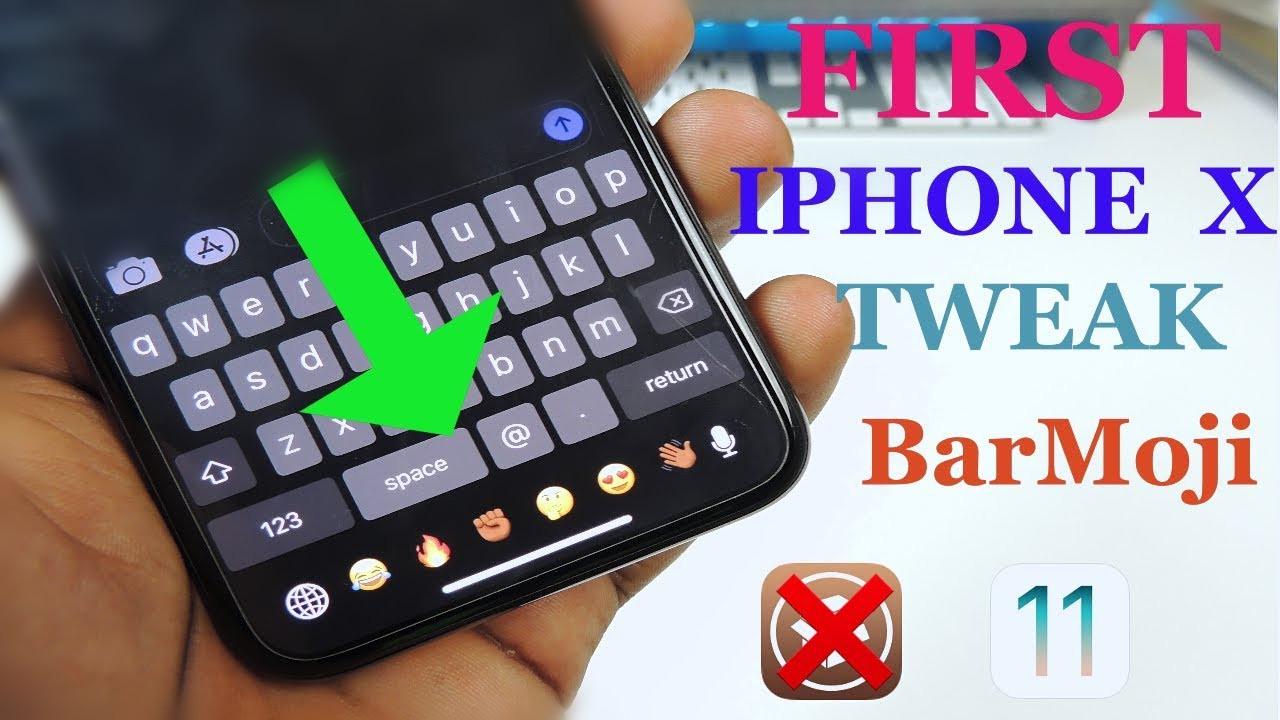 Barmoji: Add Emojis on iPhone X's Space Under the Keyboard