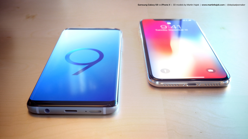 Galaxy S9 vs. iPhone X: See Samsung's New Design Next to iPhone X