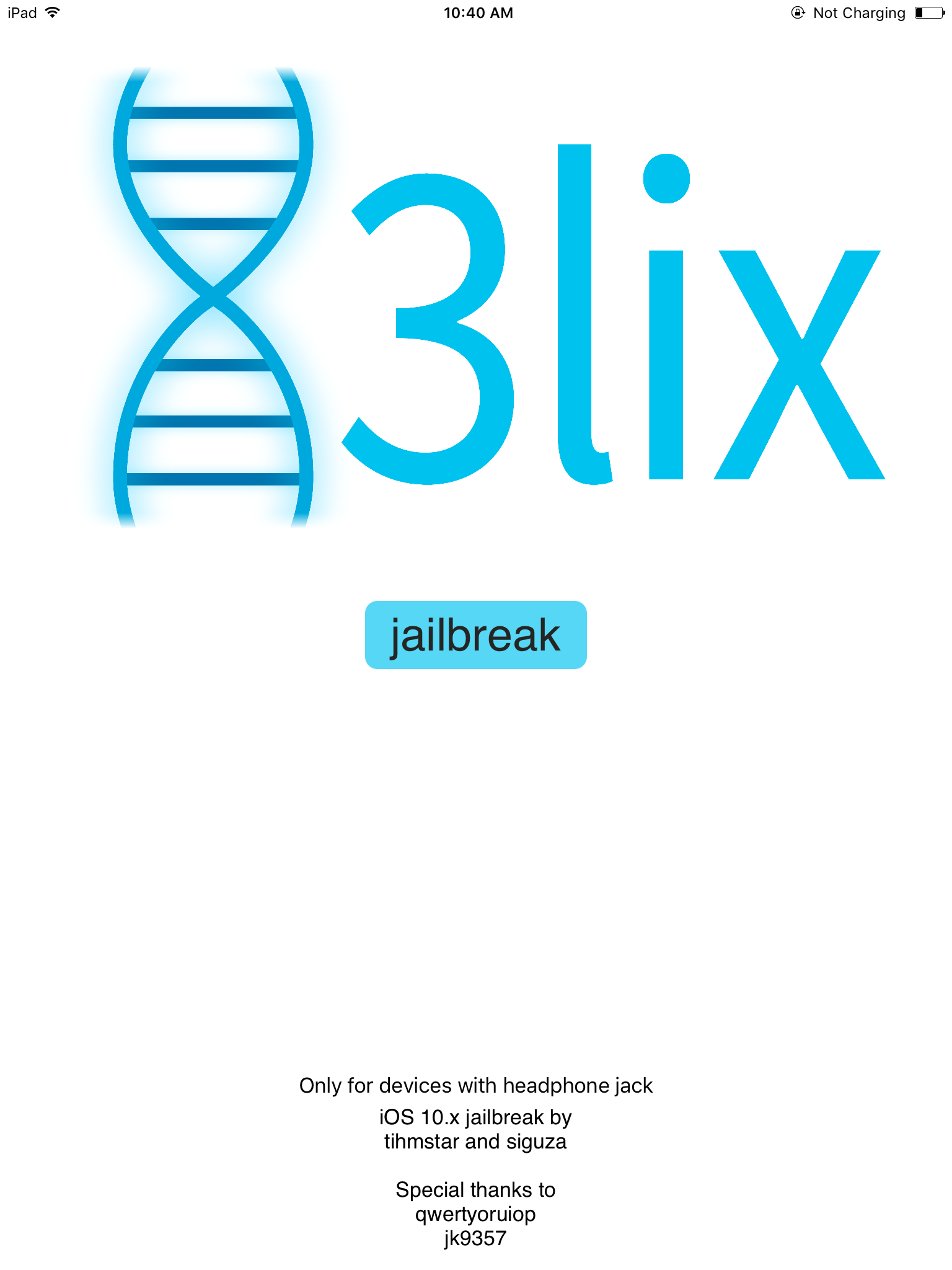 doubleH3lix for iOS 10 - 10.3.3 64-bit Jailbreak with Cydia