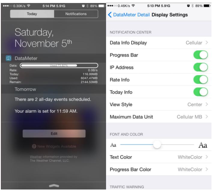 DataMeter Has Been Updated for iOS 11