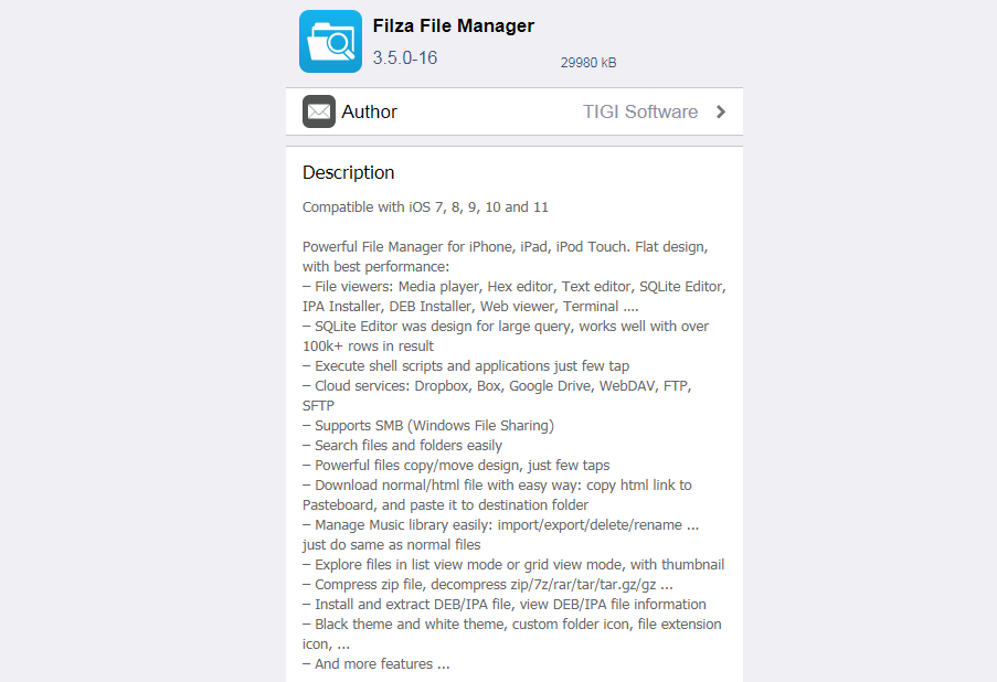 Filza File Manager Officially Updated to Support iOS 11