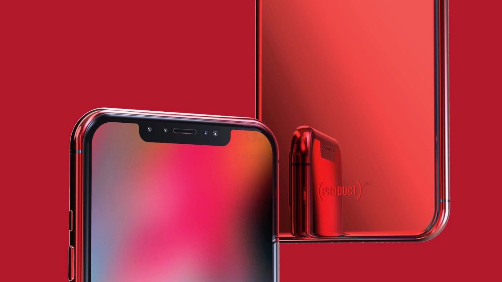 Concept Imagines (PRODUCT) RED iPhone X & iPhone X Plus