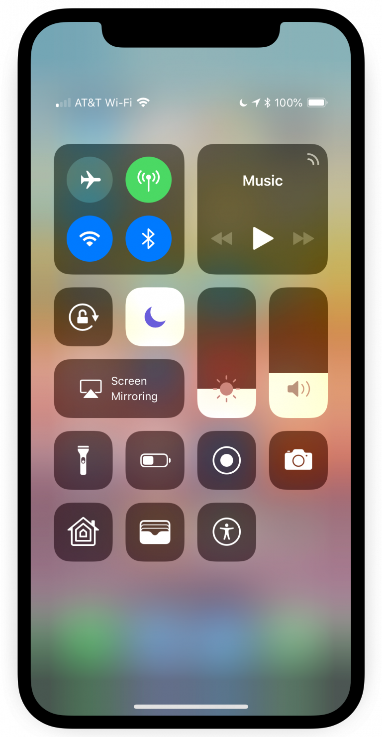 BottomControlX Brings the Classic Control Center Gesture to the iPhone X