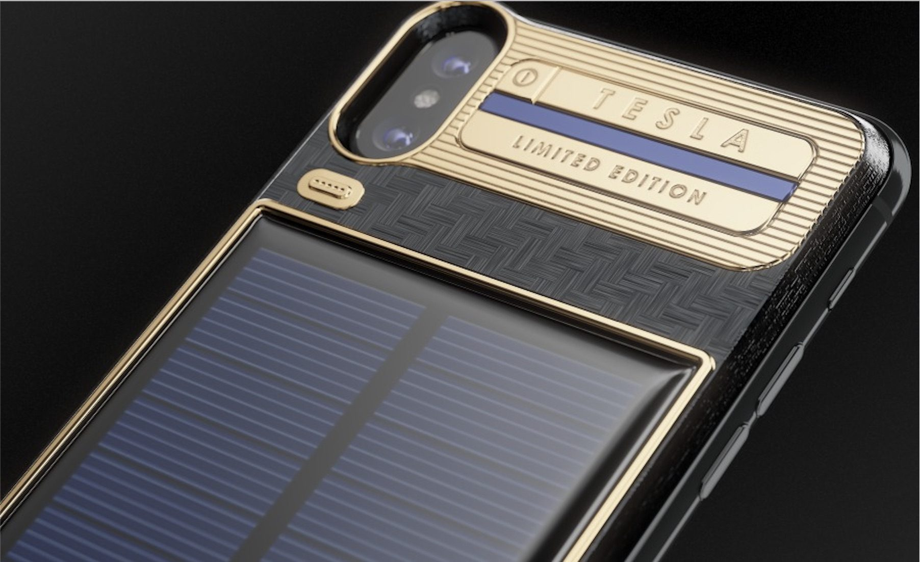 iPhone X Luxury Battery Case with Integrated Solar Panel Hits Market