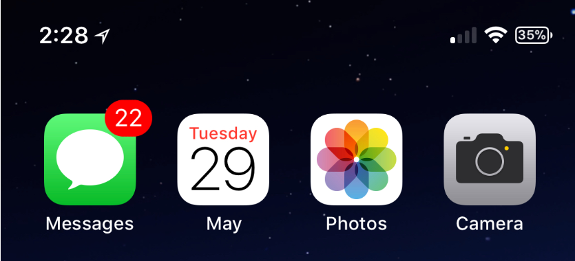 Monthlicon Displays the Current Month Under the Calendar App Icon