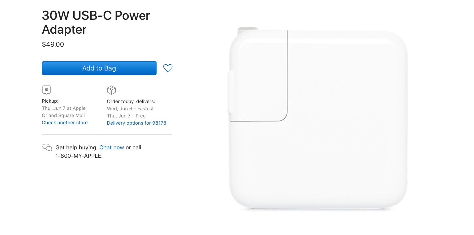 Apple Introduces New 30W USB-C Power Adapter Replaces Current 29W