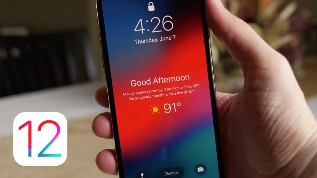 How to Show Weather on your iPhone Lock Screen with iOS 12?
