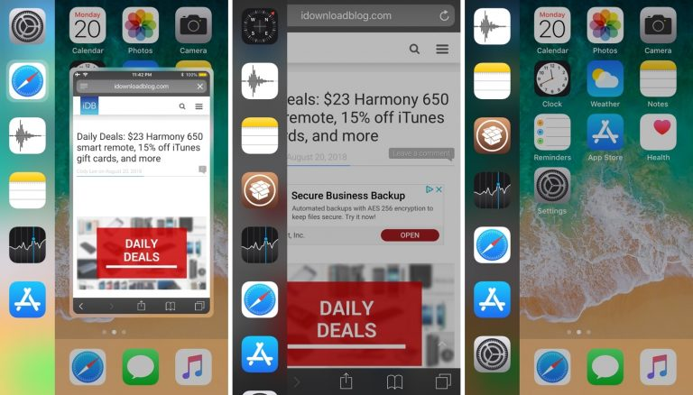 Adagio is a Modernized Quick Switcher for Jailbroken iOS 11 Devices
