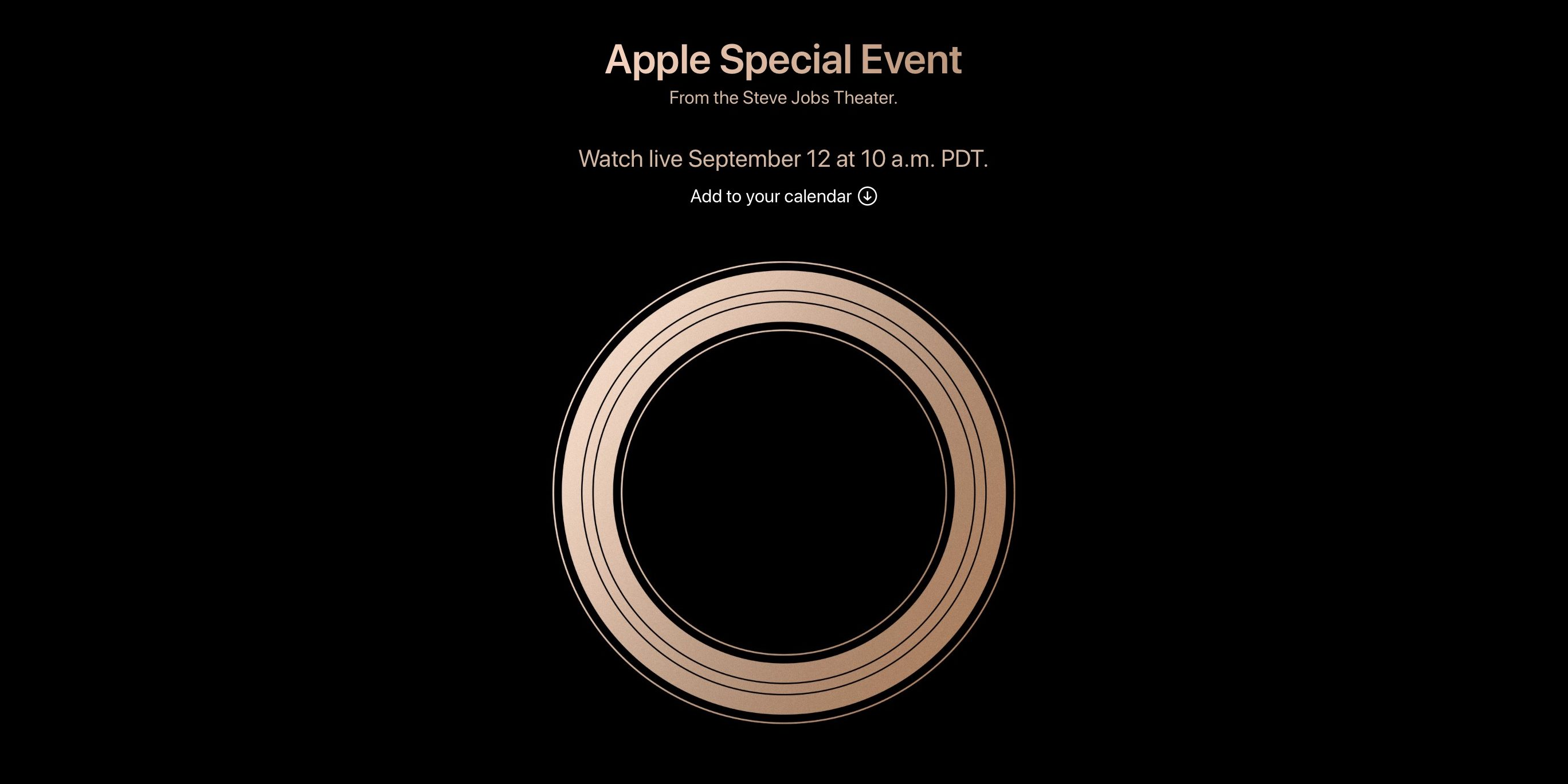 Apple Will Live Stream 2018 iPhone Event on September 12