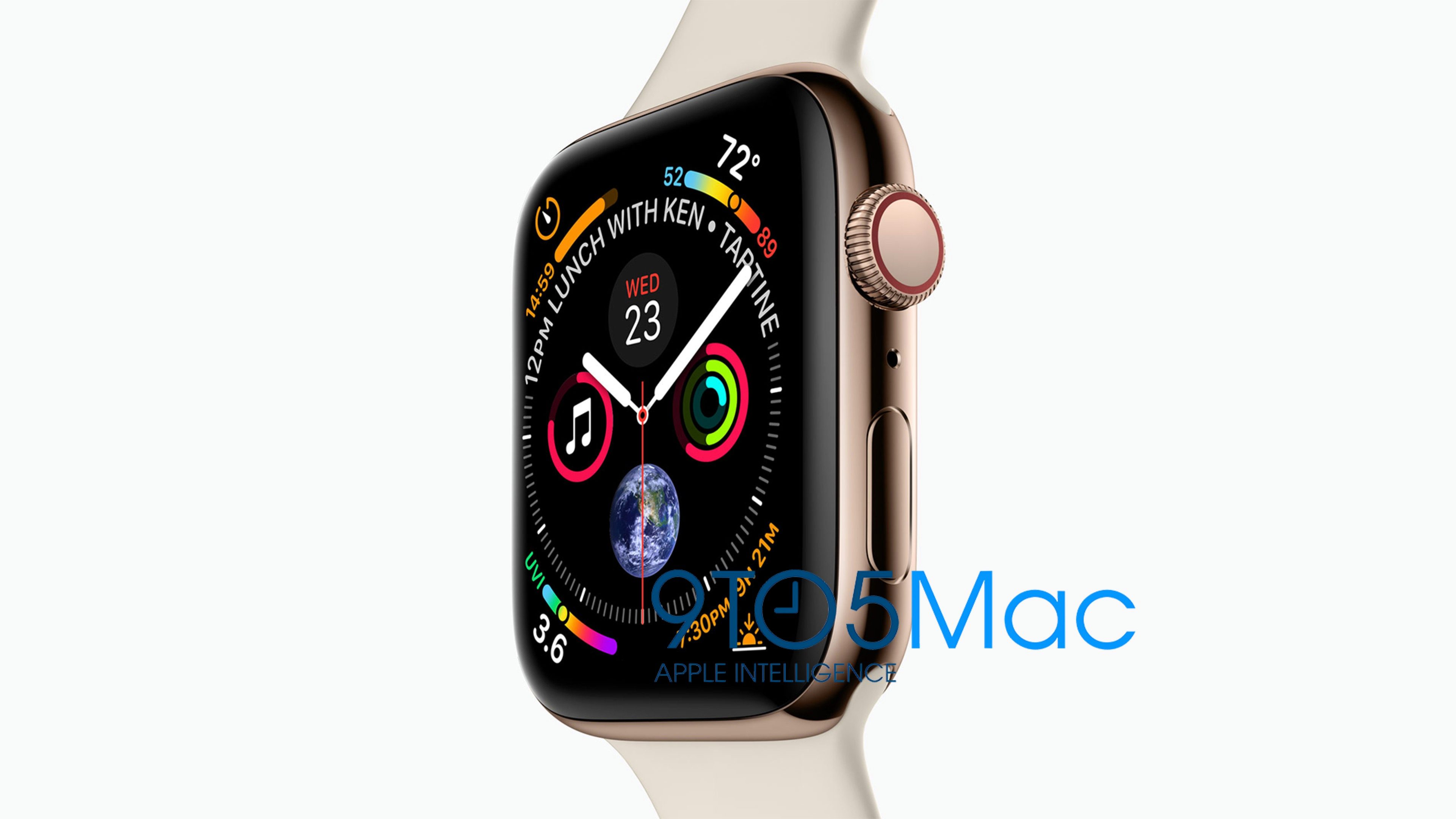 Apple Watch Series 4 Leak Reveals Larger Display and New Watch Face