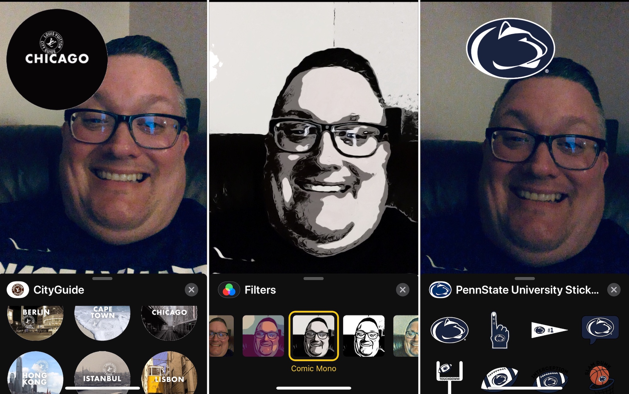 How to Use FaceTime Camera Effects like Animoji and Stickers During Video Calls?