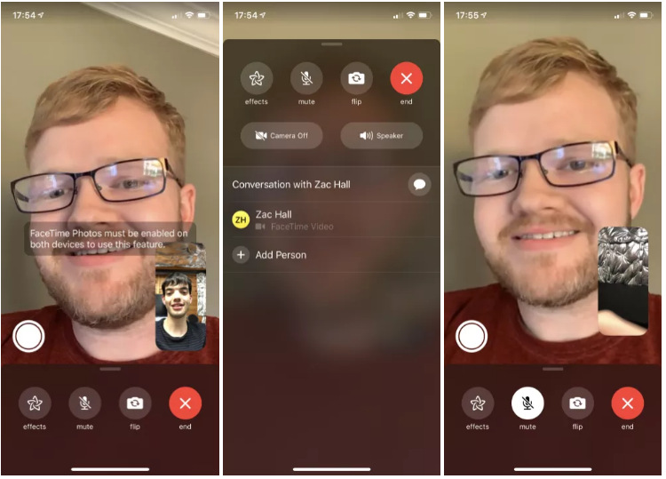 FaceTime Live Photos Returns in iOS 12.1.1, Flip Camera UI Improved