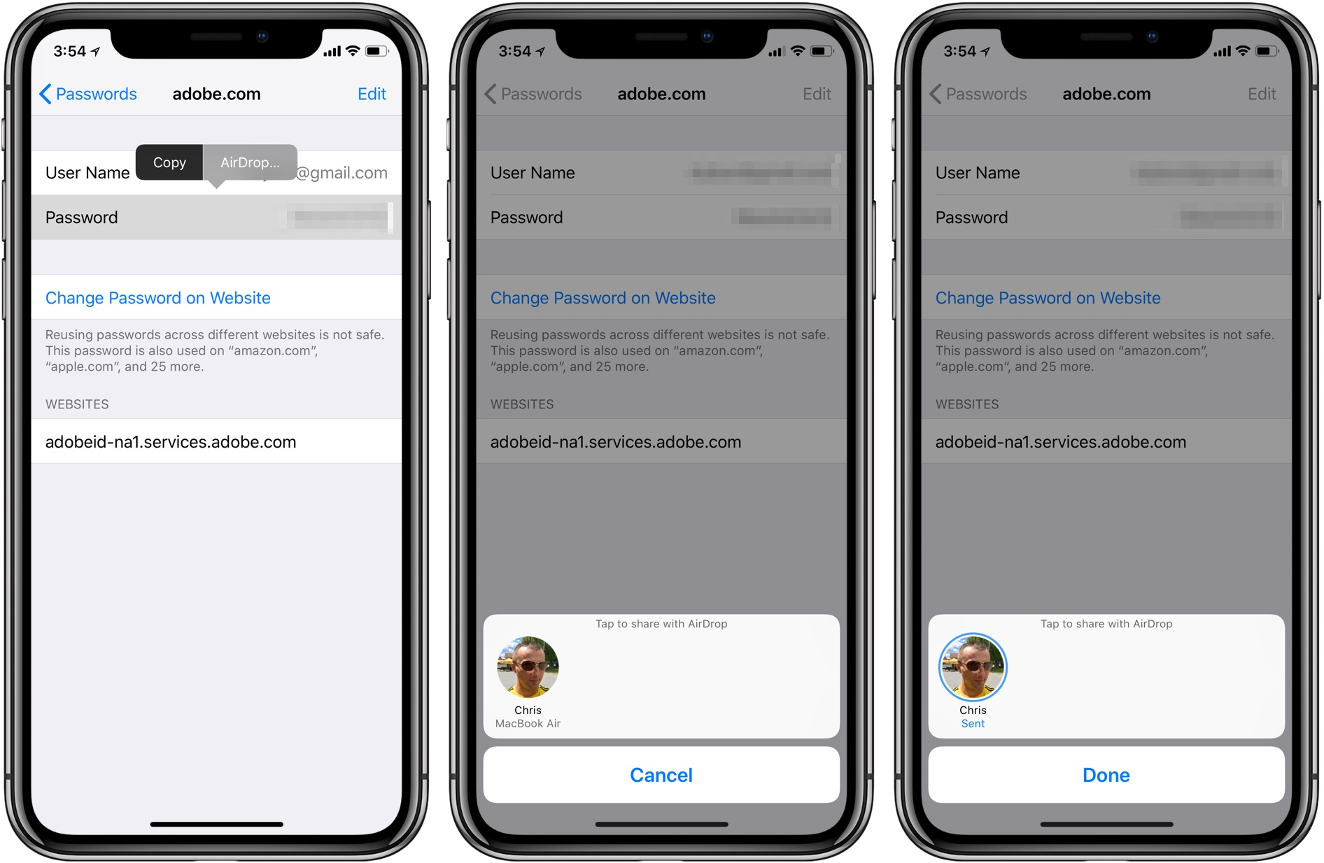 How to AirDrop Passwords Between Nearby iPhone, iPad and Mac devices?