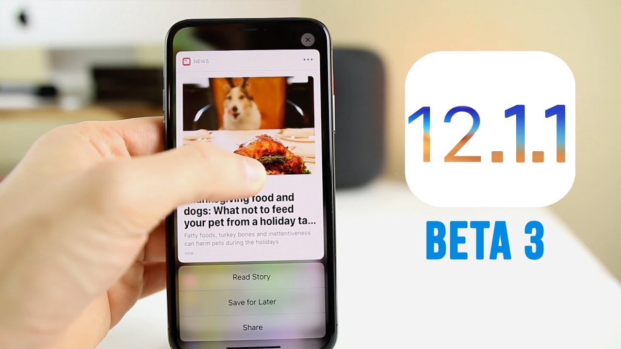 Apple Seeds Third Beta of iOS 12.1.1 to Testers