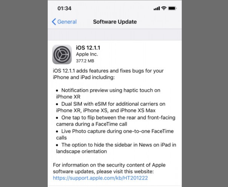 iOS 12.1.1 Released With Expanded eSIM Carrier Support