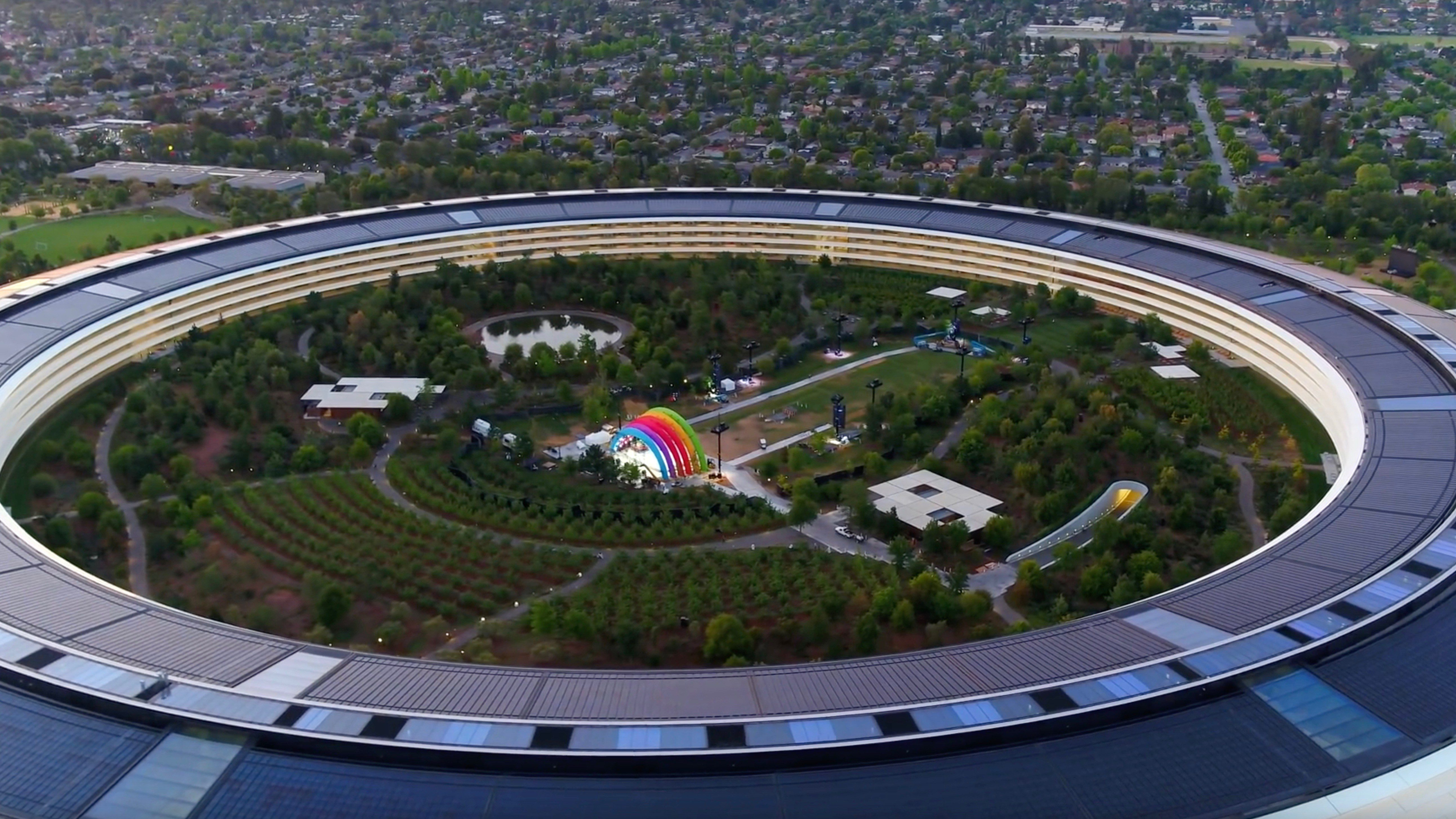 Apple Park Campus Shown Off in New Drone Video, Mystery Stage Included