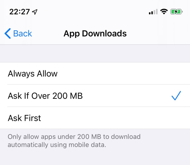 iOS 13 Removes 200 MB File Size Limit for App Downloads