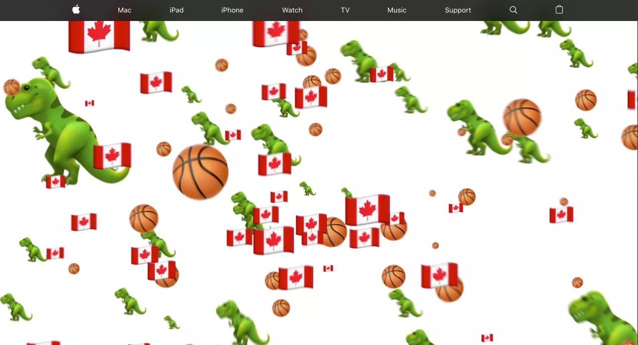 Apple.com Celebrates Toronto Raptors' NBA Victory in Canada